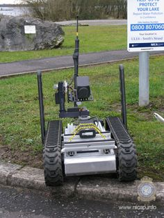 Robot on exercise in Fermanagh