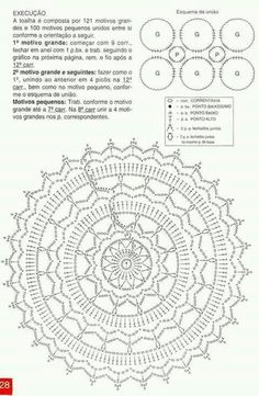 Cute crochet diagram patterns free links to several free crochet doily patterns - this is one -crochet doily 4 MRFITAH - Crochet and Knit Free Crochet Doily Patterns, Crochet Doily Diagram, Crochet Motifs, Crochet Chart, Crochet Squares, Filet Crochet, Crochet Doilies, Mandala Crochet, Doily Rug