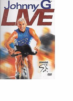 Johnny G Live Spinning Cycling System exercise fitness DVD NEW SEAL FREE S&T US