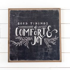 """Good Tidings"" Sign - Magnolia Market 