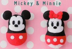 Mickey And Minnie Mouse Free Japanese Felt Sewing Patterns Download