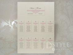 Plan stołów weselnych VI-06-PS o wysokiej jakości wykonania, ciekawym designie oraz atrakcyjnej cenie!
