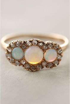 diamond and opal anthro ring