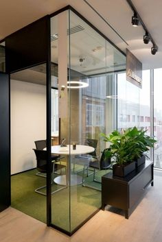 36 The Best Modern Office Design – Home Design – Modern Home Office Design House Design, Green Office Decor, Modern Office Design, Best Interior Design, Modern Office Space, Home Office Design, Door Glass Design, Office Interior Design, Office Design