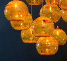 Blown Glass Pendent Lights
