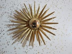 Vintage Mid Century Atomic Gold Toned Sun Burst by AdoredAnew