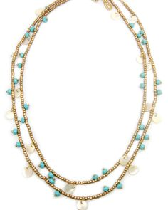 Gold & Turquoise Layered Necklace