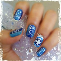 #Greek themed #nails Perfect for March 25th! :)