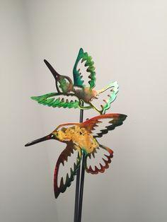 Hummingbird yard stakes