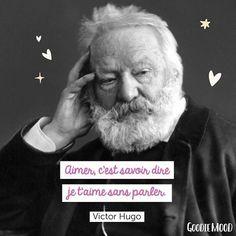 «Aimer, c'est savoir dire je t'aime sans parler.» 💓💕💓✨ Victor Hugo . . . . #victorhugo #aimer #jetaime #citation #proverbe #portrait #parler #feelgood #sourire #bienveillance #optimisme #sourire 🌙 Goodie Mood🔮 (@goodiemood) • Photos et vidéos Instagram