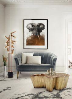 7 Luxus Couchtische, die Ihre Wohn-Design schaukeln werden | Sequoia gold Patina Messing und Holz Couchtische aus Brabbu. | http://wohn-designtrend.de/luxus-couchtische-die-ihre-wohn-design-schaukeln-werden/