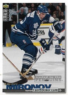 DMITRI MIRONOV 1995-96 TORONTO MAPLE LEAFS Upper Deck NHL Collector's Choice 1995-1996 - Collection preview - laststicker.com Hockey Cards, Baseball Cards, New York Islanders, Tampa Bay Lightning, Los Angeles Kings, Edmonton Oilers, Vancouver Canucks, Washington Capitals, Trading Card Database