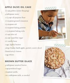 Apple olive oil cake recipe | Cooking with kids | 100 Layer Cakelet