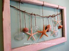 I want this for my beach bathroom. cute and simple.