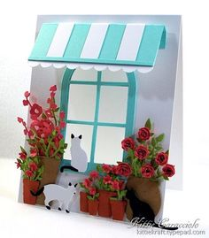 Window, Awning, Flowers and Cats
