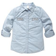 ac9157febd9 Girls  Denim Shirt - Bleach - Target Australia Long Sleeve Shirts