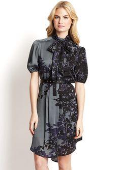 JESSICA SIMPSON Tie-Collar Printed Dress REG. $128.00 | SALE $21.99