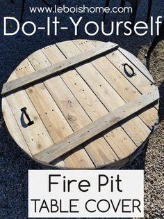 Diy Fire Pit, Fire Pit Backyard, Build A Fire Pit, Fire Pit Top, Pallet Fire Pit, Fire Pit Landscaping, Backyard Patio Designs, Backyard Projects, Outdoor Projects