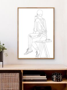 Feelings And Emotions, 2 Colours, Line Drawing, Line Art, Modern Art, Display, Future, Collection, Design