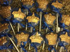 12-Royal theme chocolate suckers