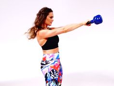 Get Total-Body Toned With This Kettlebell Workout From Emily Skye   Kettlebells are a great way to build muscle throughout the body. Follow along with this Emily Skye total-body workout.