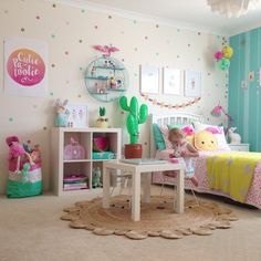 Playful, colourful and cute kids room