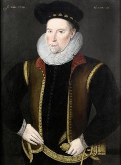 Circle of Marcus Gheeraerts the Younger. Dated 1590. Portrait of a gentleman aged 50