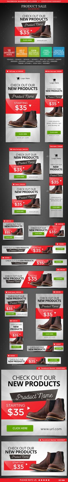 Product Sale Web Banners Template PSD #design #ad Download: http://graphicriver.net/item/product-sale-banners/14196770?ref=ksioks
