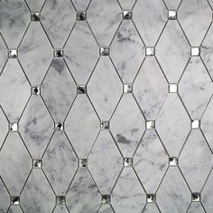 Ivy Hill Tile Mirage Lozenge Carrara in. x 8 mm Marble and Glass Wall Mosaic - The Home Depot