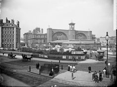 Exterior of King's Cross Station 1870-1900. Photo by English Heritage