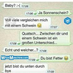 Lustige WhatsApp Bilder und Chat Fails 197 - Fettes Schwein