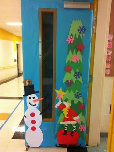 My amazing holiday door created by one of my parents! After the holidays the elf will come down and I'm going to have my Kinders make snow. Classroom Decor Themes, Art Classroom, Classroom Ideas, Christmas Projects, Holiday Crafts, Christmas Ideas, Holiday Decor, Dorm Decorations, Christmas Decorations