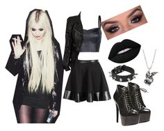 """R.Y Taylor Momsen 04"" by clarityscream ❤ liked on Polyvore featuring Steve Madden, MANGO, Marc Jacobs and Lime Crime"