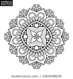 Round Mandala On White Background | Mandala, Vector free ...