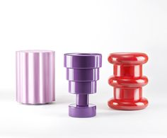 Colonna, Calice, and Pilastro stools by Ettore Sottsass for Kartell via @sightunseen