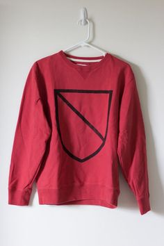 Saturdays Surf NYC Men's Red Crew University Crest Sweatshirt Sz. M $98 SOLD OUT #SaturdaysSurfNYC #SweatshirtCrew