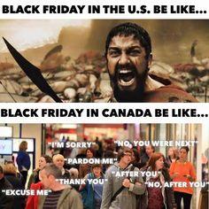 Black Friday in the Us vs Canada