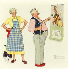 NORMAN ROCKWELL New Calendar - 1955