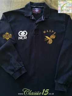 8e8e1de3375 Relive London Wasps' 1996/1997 season with this vintage Cotton Oxford home  rugby shirt