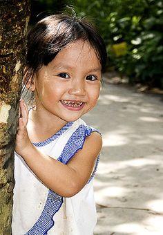 Girl in Mekong Delta, so sweet <3