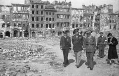 Warsaw The Old Town 1945 President Dwight Eisenhower