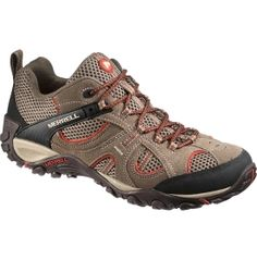 $79.99  Light and nimble, the Merrell® Men's Yokota Trial Vent hiking shoe has an athletic look but performs for your outdoor needs. Great for long days on the trail with forefoot  support from a TrailProtect pad and an M-Select GRIP outsole, your feet will be equipped to take on the most rugged landscapes. For a shoe that's easy on feet but durable on terrain, step into the Yokota Trail hiking shoe.