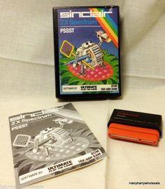 ★ Rare Retro Pssst Game Sinclair ZX Spectrum Rom Cartridge G28/R  ★