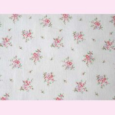 Rag Rescue - Superb French vintage fabric, bunches of roses and forget me nots - JN2
