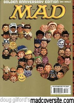 Golden Anniversary - Alfred E Neuman - Faces - Personalities - Characters Vintage Comics, Vintage Books, Mad Magazine, Magazine Covers, Alfred E Neuman, Buy Edibles Online, Little Free Libraries, Mad World, Golden Anniversary