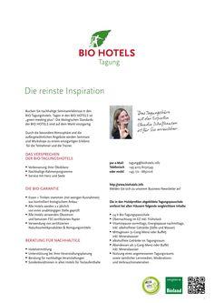 Buchen Sie nachhaltige Seminarerlebnisse in den BIO Tagungshotels. Workshop, Hotels, Inspiration, Sustainability, Biblical Inspiration, Atelier, Work Shop Garage, Inspirational, Inhalation