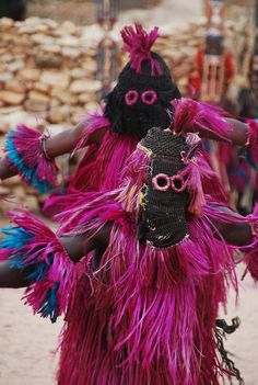 Africa | Masked Dogan dancers. Mali | © Jean-Louis Potier