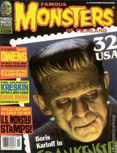 Famous Monsters of Filmland Magazine comic books Classic Monster Movies, Classic Monsters, Thomas Blackshear, Famous Monsters, Horror Pictures, Movie Magazine, Sci Fi Horror, Halloween Horror, Halloween Icons
