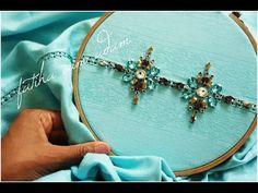 زواقة بالاحجار على راندة خفيفة *شوفي تناسق الالوان مع ام ادم*perlage en main - YouTube Hand Embroidery Dress, Embroidery Neck Designs, Hand Embroidery Videos, Embroidery Suits Design, Tambour Embroidery, Bead Embroidery Jewelry, Embroidery Stitches, Bead Embroidery Tutorial, Moroccan Dress