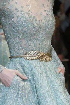 Gold leaf belt